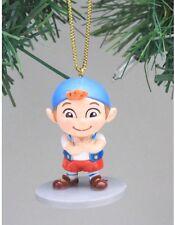 "Disney Jake & Neverland Pirates Cubby Christmas Holiday Ornament PVC Figure 2.5"""