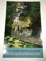 "Claude Monet Poster Metropolitan Museum Of Art Andre Meyer Galleries 38""x 24"""