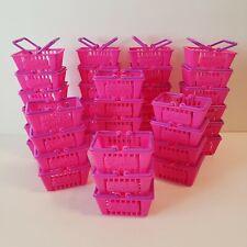 Shopkins Baskets Lot of 40 pink & purple miniature shopping baskets party favors