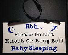 Baby Sleeping Please Do Not Knock or Ring Bell Door Hanger Wood Sign
