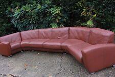 Designer DE SEDE brown leather corner sofa  suite RRP £15000