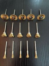 Wire Brass Brush Brushes Wheel Set Dremel Accessories for Rotary Tools 15pcs @