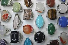 Großhandel gemischter 25st Viele Natürliche mix Farbe Stein Schmuck Ringe