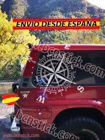 Adhesivo Rosa De Vientos Brújula Vinilo Pegatina Decal Coche4x4 60x60cm