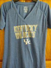 Kentucky Wildcats Womens Tshirt Top Size Medium 8 10 Blue Short Sleeve Pro Edge