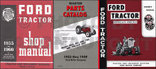 1955 1956 1957 Ford 600 800 Series Tractor 3 Manual Set Owners Shop Parts Books