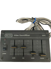 Vintage Soma Video Sound Mixer With Headphones And Microphone