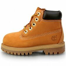 "Timberland 6"" Premium Toddler 12809 Wheat Waterproof Td Boots Shoes Baby Size 4"