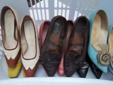 Vintage Ladies Shoes 6 Pairs Size 8 Multi Colors And Brands From The 50'S