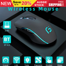 Optical Wireless Bluetooth Mouse 2400DPI for Android Phone Tablet PC Laptop AU