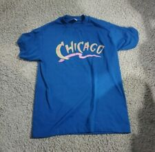 Vintage Single Stitch Chicago T Shirt Blue Neon Pink Yellow Free Shipping