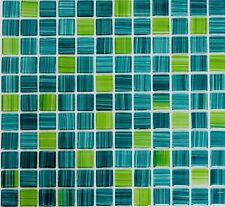 Mosaïque carreau translucide cristal vert pâle cuisine mur 64-0509_f |10 plaques