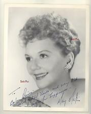 MARY MARTIN SIGNED AUTOGRAPHED VINTAGE EDITTA SHERMAN 8 x 10 PHOTO PSA (486)
