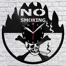"No Smoking Vinyl Record Wall Clock Fan Art Home Decor 12"" 30cm 1252"