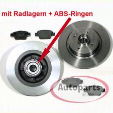 Peugeot 207 - Bremsscheiben Bremsen Abs Ringe Radlager für hinten Hinterachse*