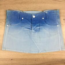 Bettina Liano Women's Jean Mini Skirt Blue Ombre Size 12  L13 NWOT (BLB)