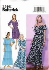 BUTTERICK SEWING PATTERN 6451 MISSES 16-26 BOHO STYLE DRESS & MAXI IN PLUS SIZES