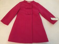 Widgeon Girl's Widgeon Bow Front A-Line Coat, Pink - Size 6 - New (other detail)