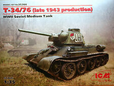 Carro armato T-34/76  (late 1943 production)  - ICM Art.35366 - scala1/35