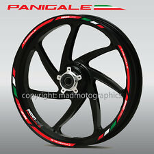 Ducati Panigale 1199 wheel decals stickers set rim stripes Laminated 1299 899