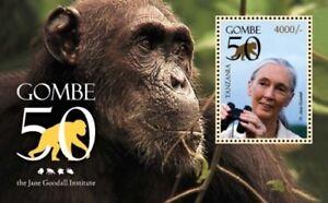 Tanzania - Jane Goodall Gombe 50th Anniversary Stamp - Souvenir Sheet MNH