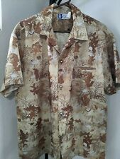 Hawaiian shirt by RJC Button up with pocket. Fall colors Made in Hawaii XL Aloha
