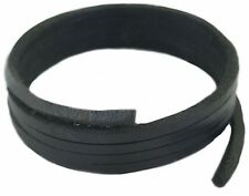 Black  Leather Shoe & Boot laces 3 mm square laces 140 cm long