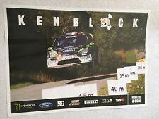 AFFICHE POSTER FORD FOCUS WRC KEN BLOCK DEUTSCHLAND RALLY 2010 MONSTER RALLYE