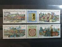German DDR 1988 Tenth Youth Stamp Exhibition, Erfurt and KarlMar 4 stamp set MNH