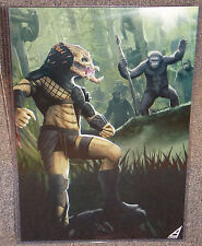 Predator vs The Planet Of The Apes Glossy Print 11 x 17 In Hard Plastic Sleeve