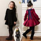 Toddler Kids Girls Long Sleeve Clothes Princess Party Tutu Dress Size 3T 4 5 6 8