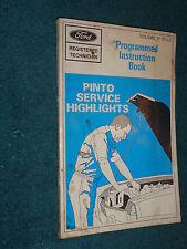 1971 FORD PINTO SERVICE HIGHLIGHTS SHOP MANUAL / ORIGINAL MECHANIC SCHOOL BOOK