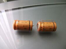 100PCS NOS ROE EG GOLD 22uF 385V AXIAL HI END AUDIO GRADE TUBE AMP CAPS !