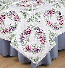 """Bleeding Hearts Stamped Embroidery & Quilting Blocks - Set of 6 Each 18"""" x 18"""""""