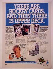 1990 Wayne Gretzky L.A. Kings Hockey Upper Deck Cards Photo Promo Trade Print AD