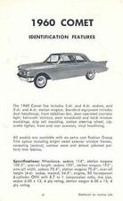 1960 Mercury Comet Salesman's Features Brochure po2748-TD2OWL