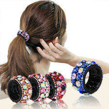 Fashion Women Crystal Hair Ponytail Ring Buckle Holder Hairpins Hair Accessories