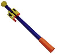 Blasrohr für Kinder 46cm mit 5 Softpfeilen Pfeile mit Saugnapf Blasrohre