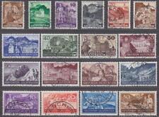 LIECHTENSTEIN - 1937 COMPLETE YEAR SET STAMPS- JAHRGANG -used- CHEAP - BILLIG !!