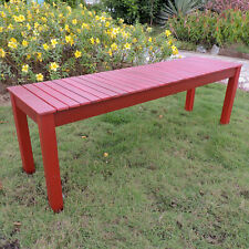 Royal Fiji Acacia 52-inch Picnic Bench - Barn Red