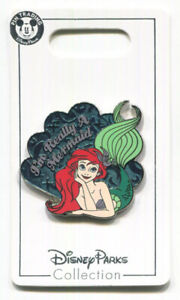 "Disney Parks ARIEL ""I'm Really A Mermaid"" The Little Mermaid Disney Pin"