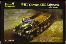 Caesar Miniatures 1/72 GERMAN SWS HALF TRACK
