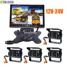 """4x cámara de marcha atrás +7 """"LCD 4CH Monitor Kit de visión trasera del coche"""