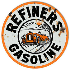 "Vintage Refiners Gasoline Reproduction Sign 18""x18"""