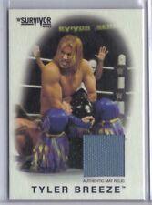 Tyler Breeze 2016 Topps WWE Heritage Survivor Series Mat Relic Game Used 89/199