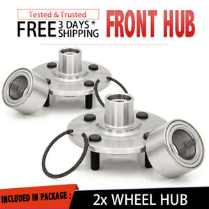2x Front Wheel Hub & Bearing Replacement Assembly For 94-02 SATURN SL SEDAN Pair