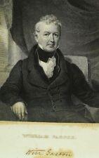 """1834 Original William Gaston Copper Plate Engraving 6 1/2"""" X 10 1/8"""""""