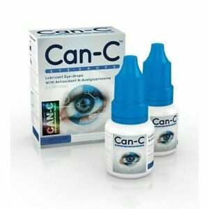 CAN-C Eye Drops 2 x 5ml Lubricant Eye Drops with Antioxident N- Acetylcarnosine