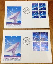 Norway Post FDC 1991.04.16. Europa Cept - Europe in Space - Block of Four