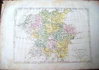 1839 CARTA GEOGRAFICA 'LA GERMANIA DIVISA NE SUOI CIRCOLI'. MARMOCCHI -  FIRENZE